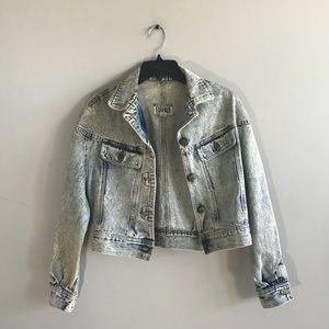 Vintage 80's Forenza Acid Wash Denim Jacket